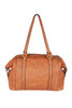 Faux Leather Tote W/ Tassel Details