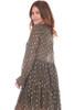 V-Neck L/S Ruffle Dress
