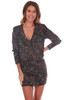 Surplice Front L/S Mini Dress