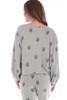 Skull Print Balloon Sleeve Sweater