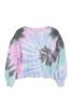 Tie Dye Balloon Sleeve Crewneck Sweatshirt
