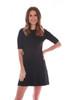 Milo Elbow Sleeve Crew Mini Dress