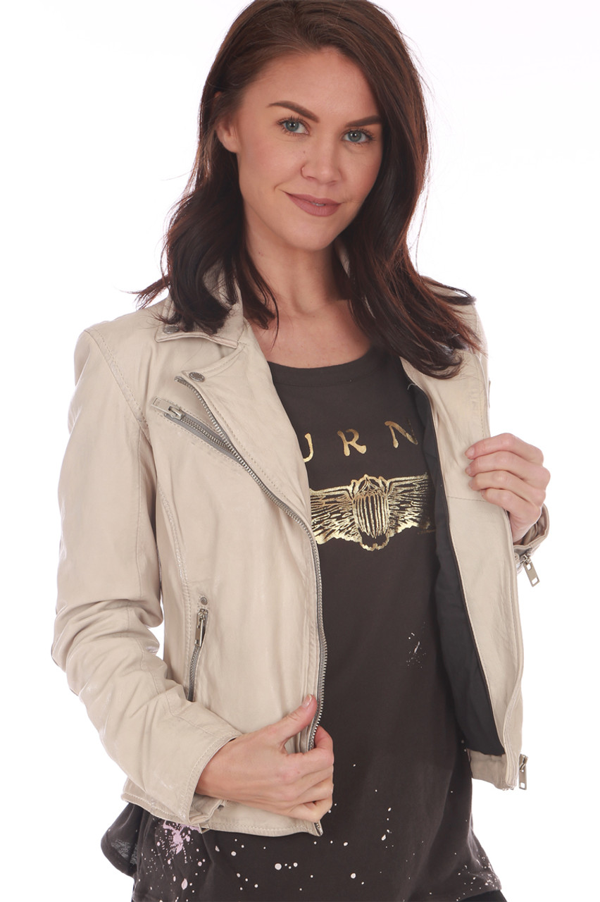 f5dd3899 Off White Victoria 100% Leather Jacket. Beautifully made, this 100% lamb  leather
