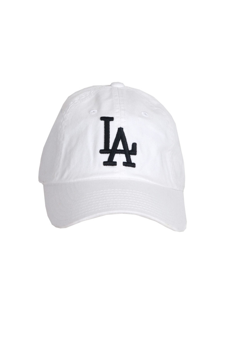 58e3b7a4e49 Front shoes white Los Angeles Dodgers Ballpark baseball hat with curved  brim