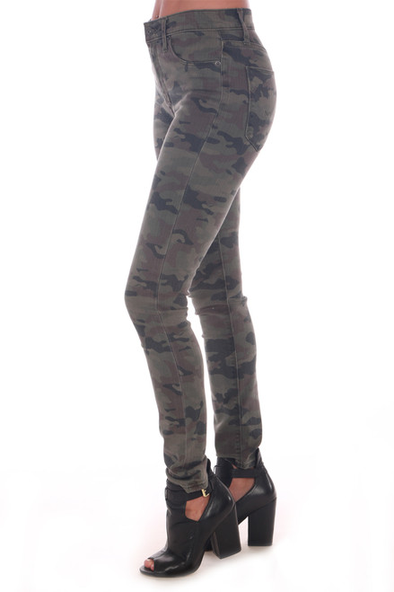 side shows long camo skinny Jeans featuring a high waist, super skinny tapered leg & soft & stretchy material!