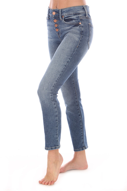 Holly Button Fly Skinny Jeans