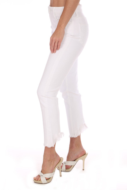 The White Hoxton Slim Crop Jeans