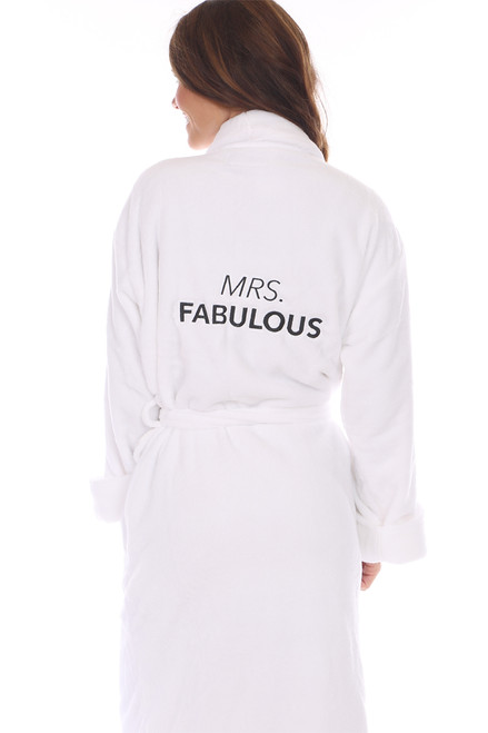 Mrs. Fabulous Plush Robe