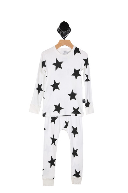 Black & White Star Loungewear (Toddler)