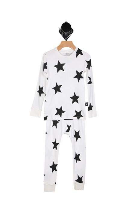 Black & White Star Loungewear (Toddler)