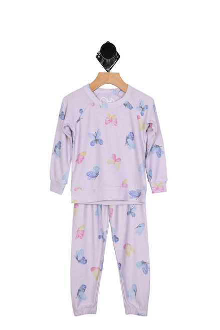 Butterfly Sweat Lounge Set (Little/Big Kid)