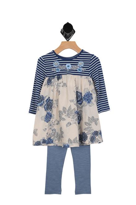 Graceful Dress & Knit Legging Set (Toddler)