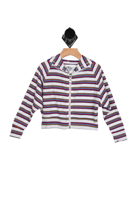 Striped L/S Hoodie (Big Kid)