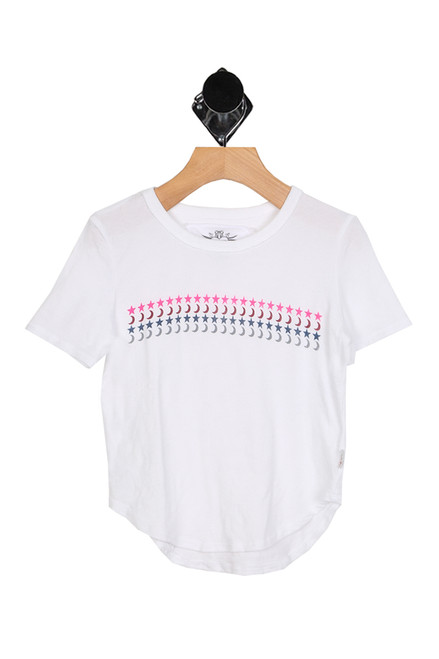 S/S Stars & Moon Tee (Little/Big Kid)