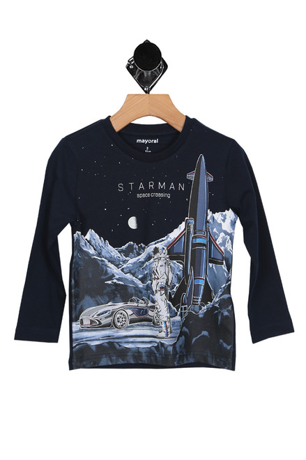 Glow In The Dark Space Crossing L/S Tee (Toddler/Little Kid)