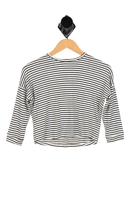 long sleeve striped shirt for girls.