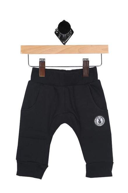 black joggers for infant boy