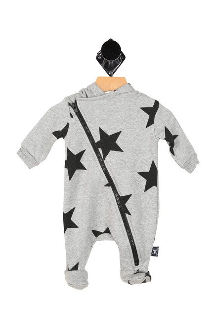 Hooded Zip Up Star Onesie (Infant)