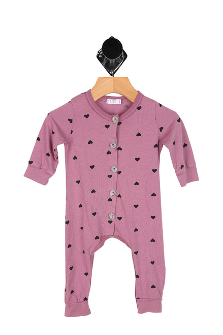 All Over Hearts L/S Onesie (Infant)