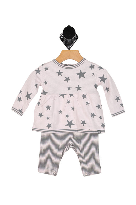 Knit Stars All Over Playsuit (Infant)
