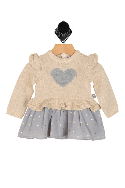 Knit L/S Heart Dress (Infant/Toddler)