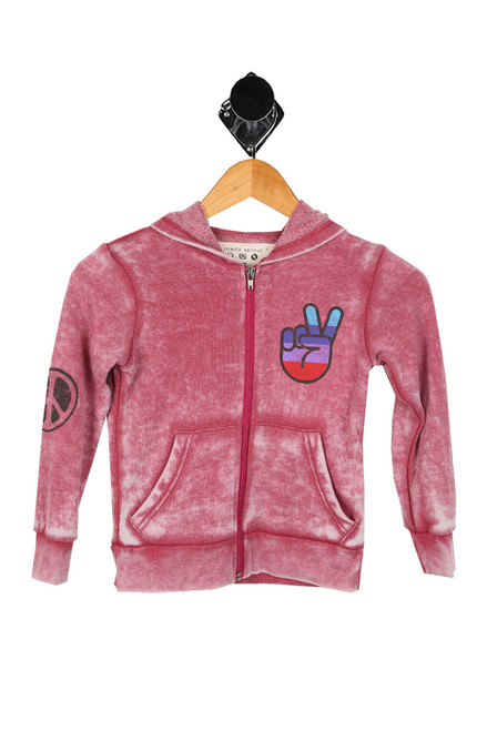 One Love Burnout Hoodie (Toddler/Little Kid)