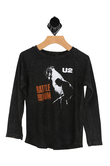 U2 Distressed Raglan Tee (Toddler/Little/Big Kid)