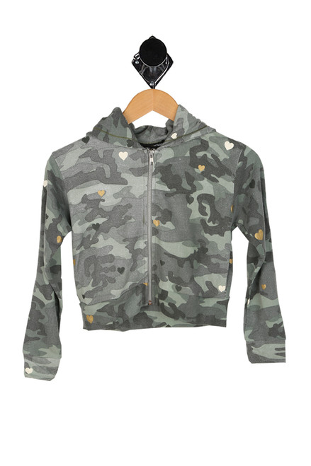 Camo Heart Zip-Up Hoodie (Big Kid)
