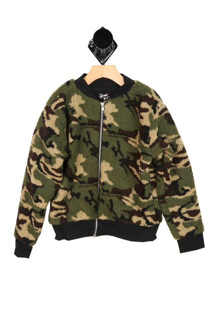 Sherpa Camo Bomber Jacket (Big Kid)