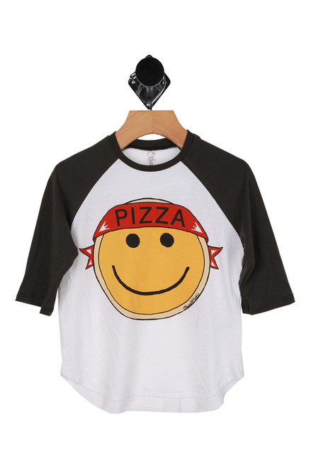 Pizza Angel Raglan Tee (Little/Big Kid)
