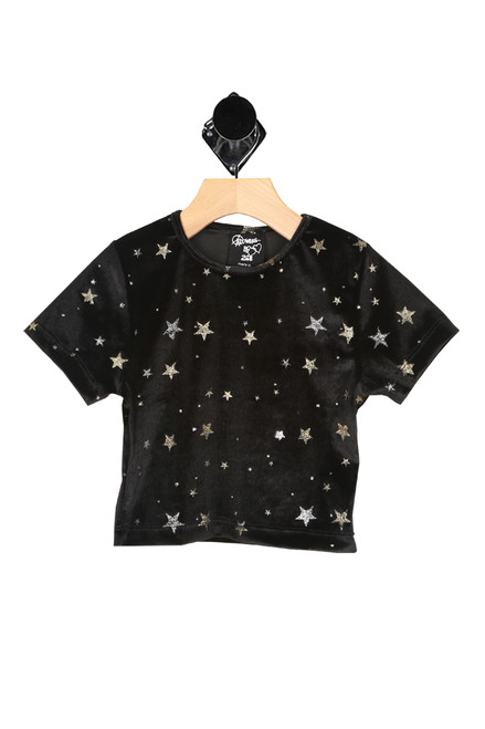 Velvet Metallic Star S/S Top (Little Kid)