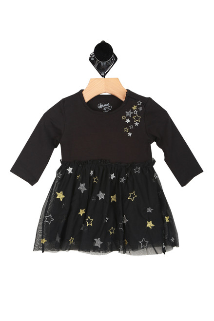 Sequin Stars L/S Dress (Infant)
