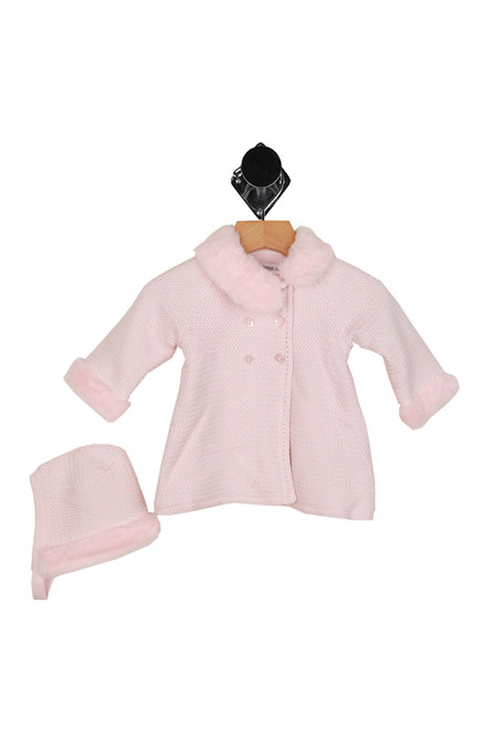 Knit P-Coat W/ Matching Beanie Set (Infant)