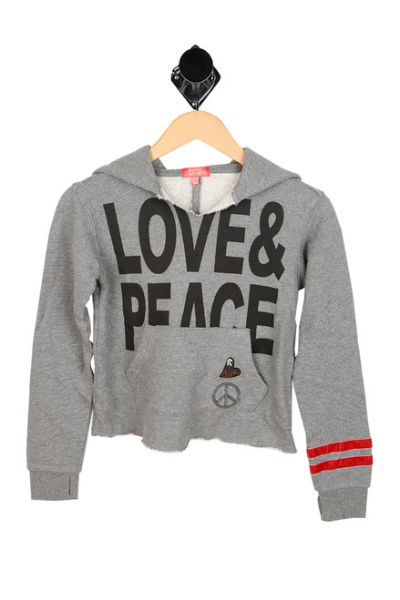 Love & Peace Hoodie (Little/Big Kid)