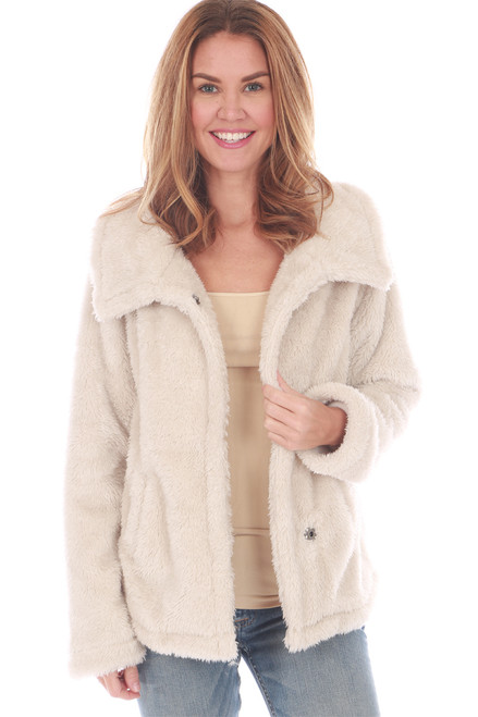Fleece-Lined Sherpa Coat