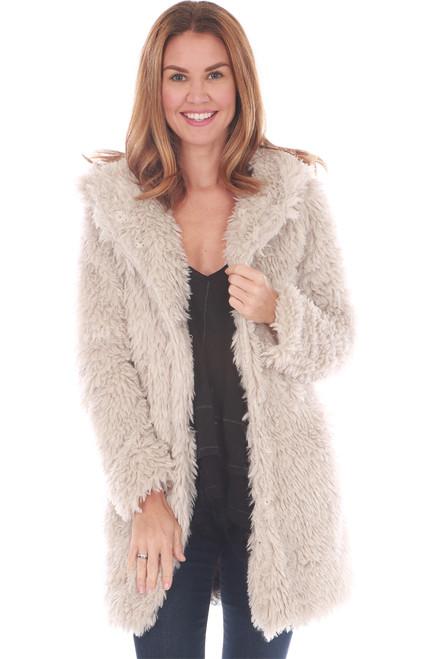 Sherpa Coat W/ Hood