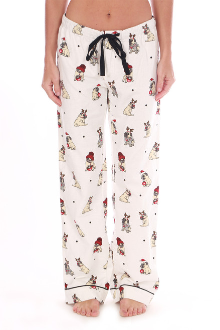 Holiday Pug Flannel PJ Pants