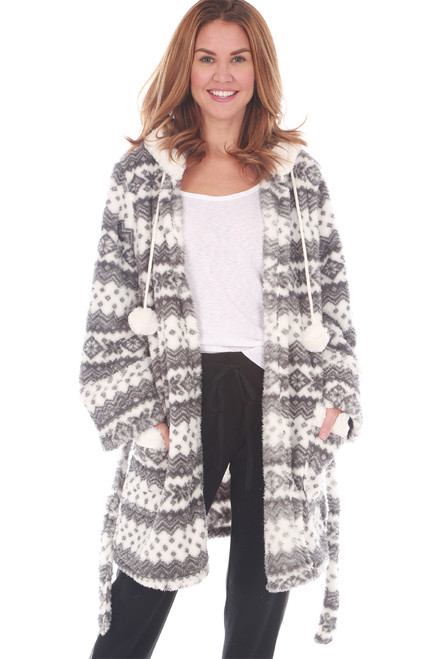 Cozy Fair-Isle Robe