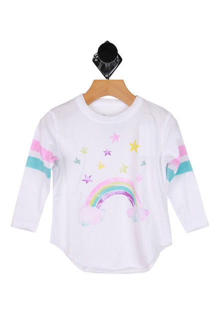 Rainbow L/S Jersey Tee (Little/Big Kid)