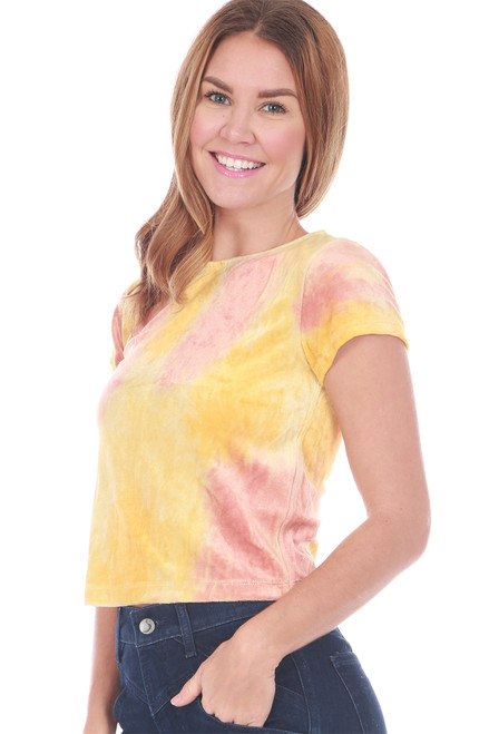 Bright Eyes Velour Cropped Tee