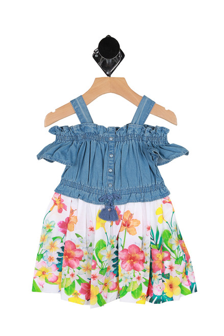 Denim Floral Dress (Toddler/Little Kid)