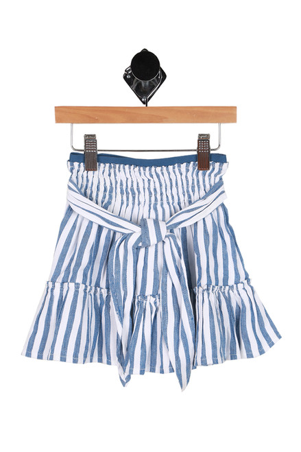 Elastic Waist Striped Skirt (Little Kid)