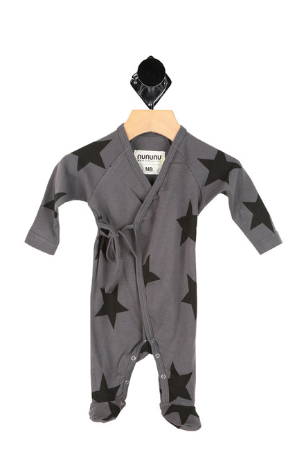 Star Tie Front Footed Onesie (Infant)