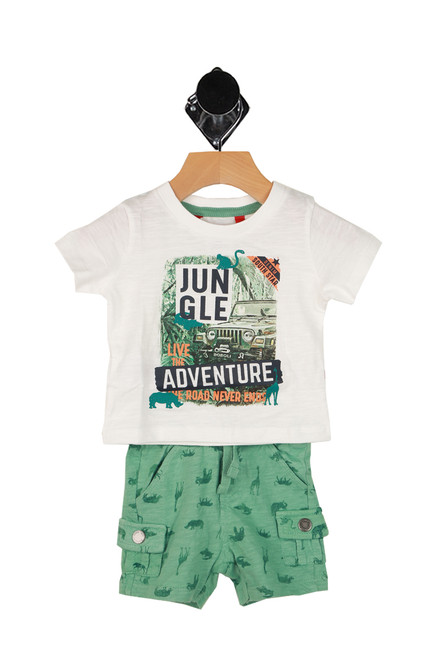 Pocket Shorts W/ Jungle Tee (Infant)