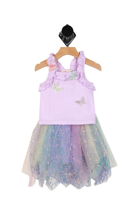 Mermaid Sequin Tutu W/ Top Set (Toddler)