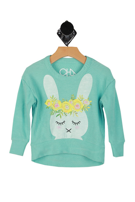 Boxy L/S Hi-Lo Bunny Pullover (Toddler/Little/Big Kid)