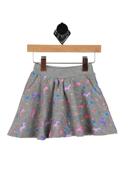 Unicorn Skort W/ Pockets (Toddler/Little/Big Kid)