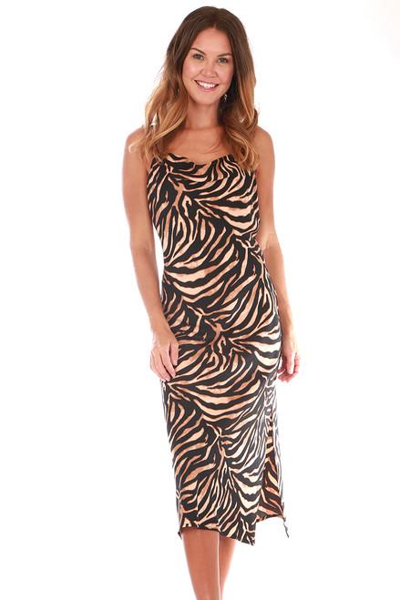 Cowl Neck Midi Dress (+ colors)