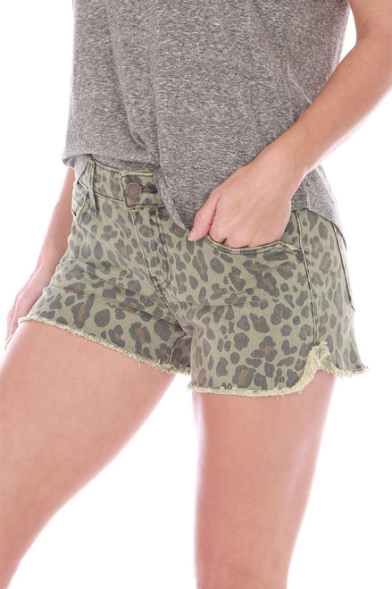 Chelsea Cut Off Leopard Shorts