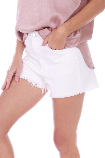 White High Rise Vintage Shorts